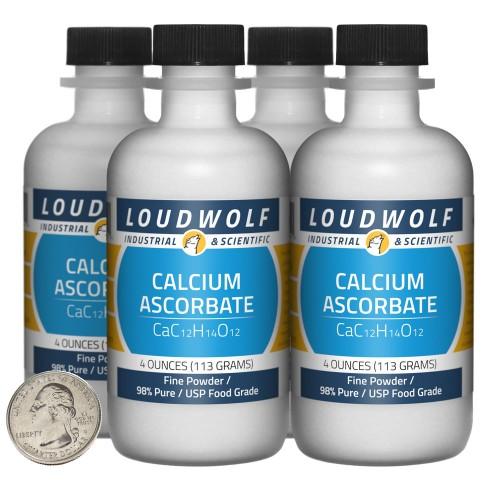 Calcium Ascorbate - 1 Pound in 4 Bottles