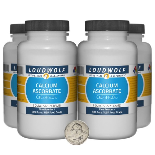 Calcium Ascorbate - 2 Pounds in 4 Bottles