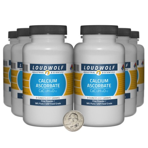 Calcium Ascorbate - 3 Pounds in 6 Bottles