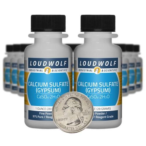 Calcium Sulfate (Gypsum) - 1.3 Pounds in 20 Bottles