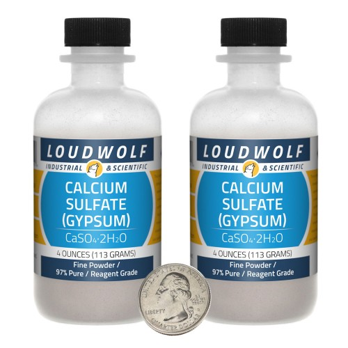 Calcium Sulfate (Gypsum) - 8 Ounces in 2 Bottles