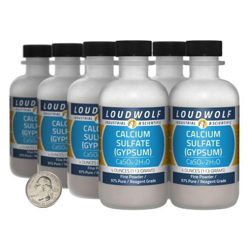 Calcium Sulfate (Gypsum) - 2 Pounds in 8 Bottles