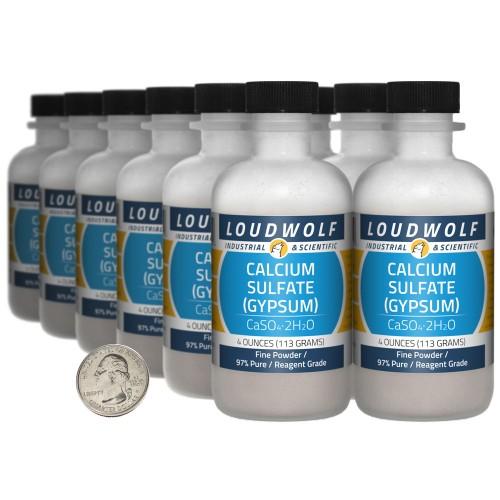 Calcium Sulfate (Gypsum) - 3 Pounds in 12 Bottles
