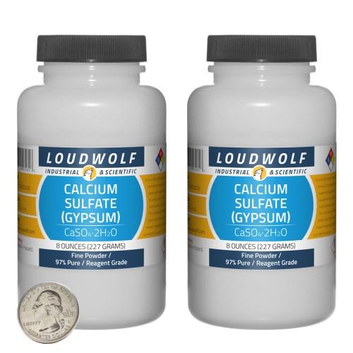 Calcium Sulfate (Gypsum) - 1 Pound in 2 Bottles