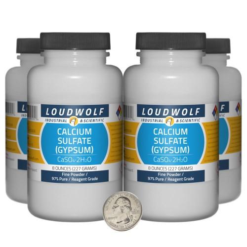 Calcium Sulfate (Gypsum) - 2 Pounds in 4 Bottles