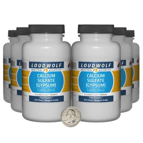 Calcium Sulfate (Gypsum) - 3 Pounds in 6 Bottles