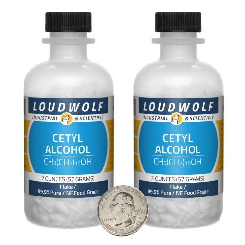 Cetyl Alcohol - 4 Ounces in 2 Bottles