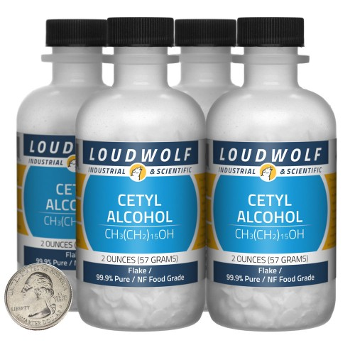 Cetyl Alcohol - 8 Ounces in 4 Bottles