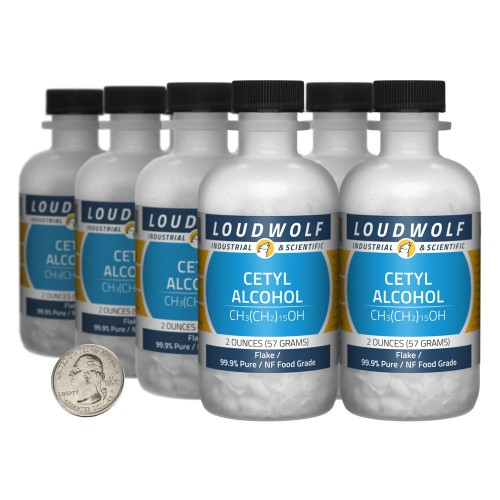 Cetyl Alcohol - 1 Pound in 8 Bottles