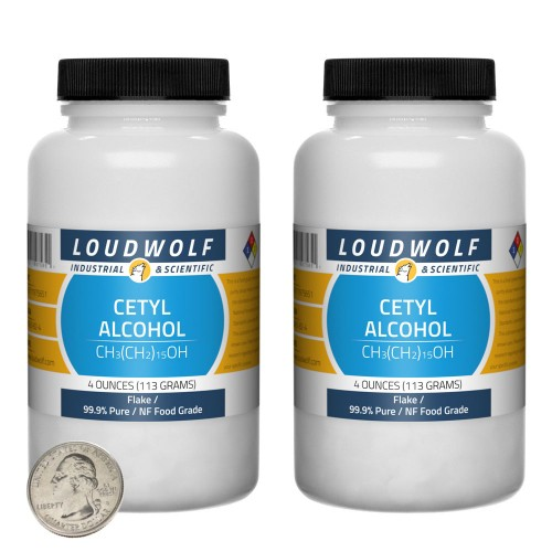 Cetyl Alcohol - 8 Ounces in 2 Bottles