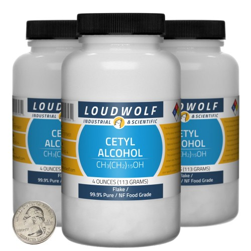 Cetyl Alcohol - 12 Ounces in 3 Bottles