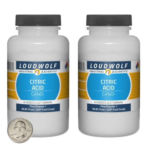 Citric Acid - 1 Pound in 2 Bottles