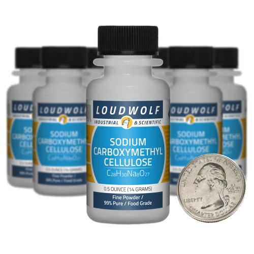 Sodium Carboxymethyl Cellulose - 5 Ounces in 10 Bottles