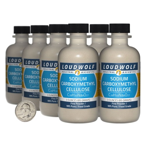 Sodium Carboxymethyl Cellulose - 1.5 Pounds in 8 Bottles