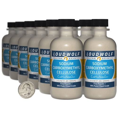 Sodium Carboxymethyl Cellulose - 2.3 Pounds in 12 Bottles