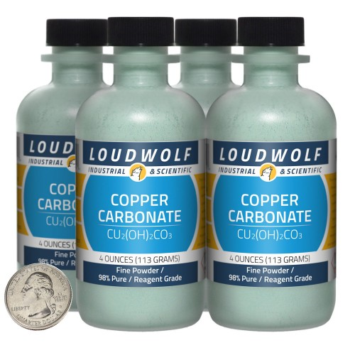 Copper Carbonate - 1 Pound in 4 Bottles