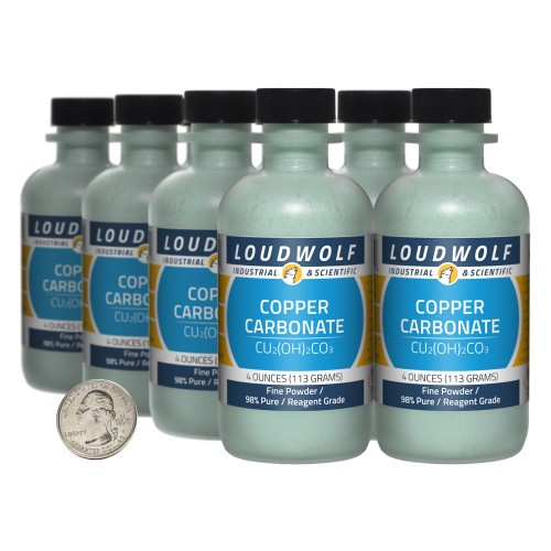 Copper Carbonate - 2 Pounds in 8 Bottles