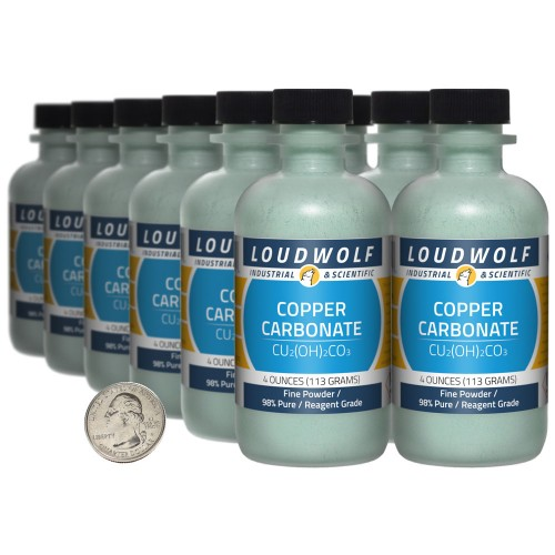 Copper Carbonate - 3 Pounds in 12 Bottles