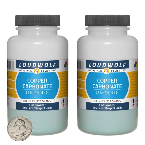 Copper Carbonate - 1 Pound in 2 Bottles