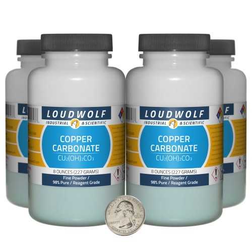 Copper Carbonate - 2 Pounds in 4 Bottles