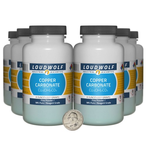Copper Carbonate - 3 Pounds in 6 Bottles