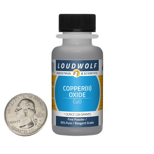 Copper(II) Oxide - 1 Ounce in 1 Bottle