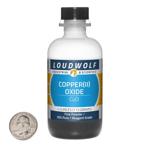 Copper(II) Oxide - 4 Ounces in 1 Bottle
