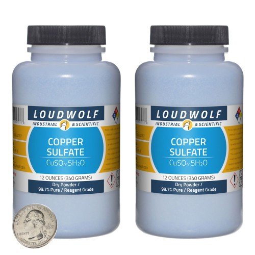 Copper Sulfate - 1.5 Pounds in 2 Bottles