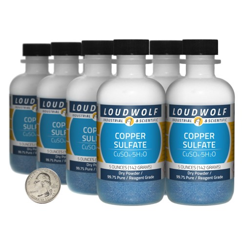 Copper Sulfate - 2.5 Pounds in 8 Bottles
