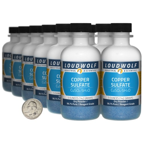 Copper Sulfate - 3.8 Pounds in 12 Bottles