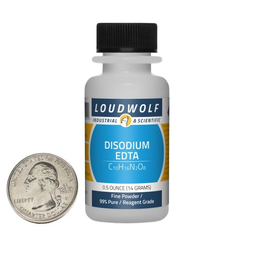 Disodium EDTA - 0.5 Ounces in 1 Bottle