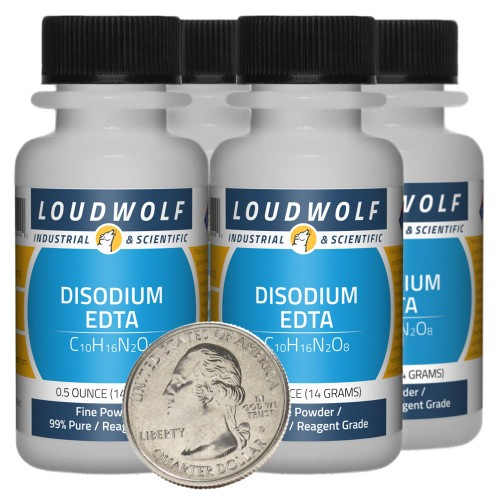Disodium EDTA - 2 Ounces in 4 Bottles
