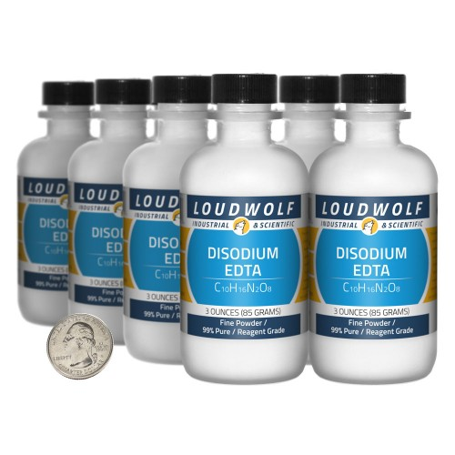 Disodium EDTA - 1.5 Pounds in 8 Bottles
