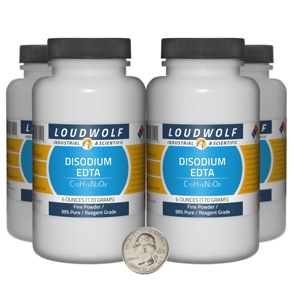 Disodium EDTA - 1.5 Pounds in 4 Bottles