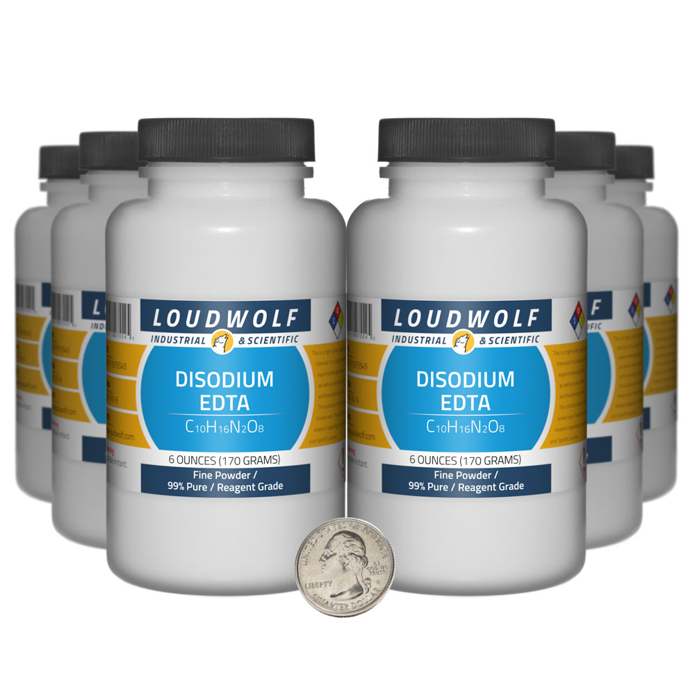 Disodium EDTA - 2.3 Pounds in 6 Bottles