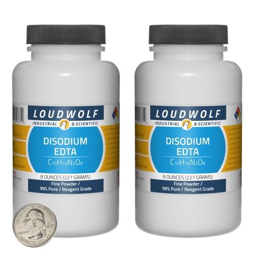 Disodium EDTA - 1 Pound in 2 Bottles