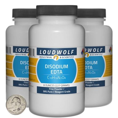 Disodium EDTA - 1.5 Pounds in 3 Bottles