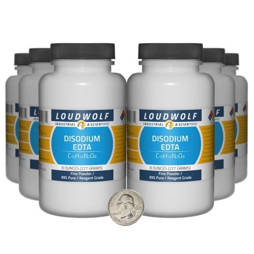 Disodium EDTA - 3 Pounds in 6 Bottles