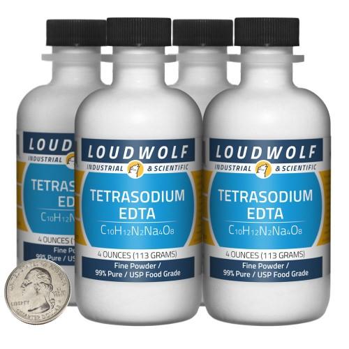 Tetrasodium EDTA - 1 Pound in 4 Bottles