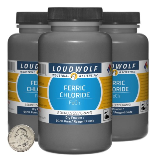 Ferric Chloride - 1.5 Pounds in 3 Bottles