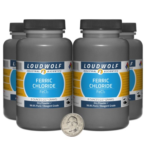 Ferric Chloride - 2 Pounds in 4 Bottles