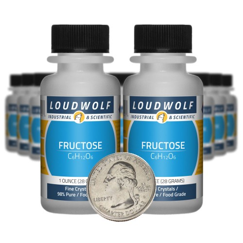 Fructose - 1.3 Pounds in 20 Bottles