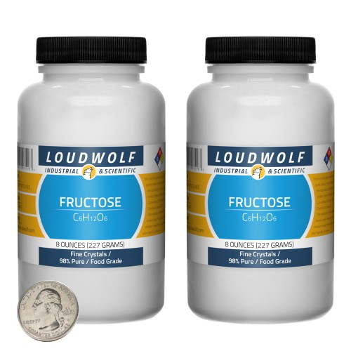Fructose - 1 Pound in 2 Bottles