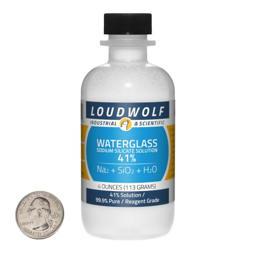 Sodium Silicate Solution Waterglass - 4 Ounces in 1 Bottle