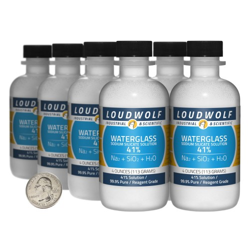 Sodium Silicate Solution Waterglass - 2 Pounds in 8 Bottles