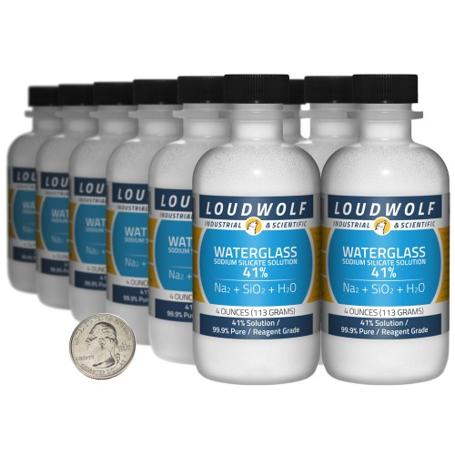 Sodium Silicate Solution Waterglass - 3 Pounds in 12 Bottles
