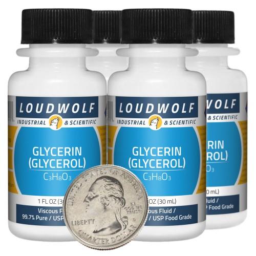 Glycerin (Glycerol) - 4 Fluid Ounces in 4 Bottles