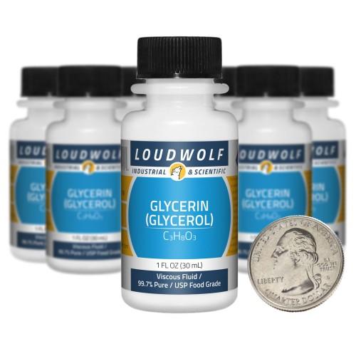 Glycerin (Glycerol) - 10 Fluid Ounces in 10 Bottles