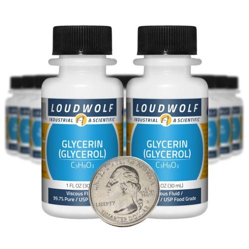 Glycerin (Glycerol) - 20 Fluid Ounces in 20 Bottles