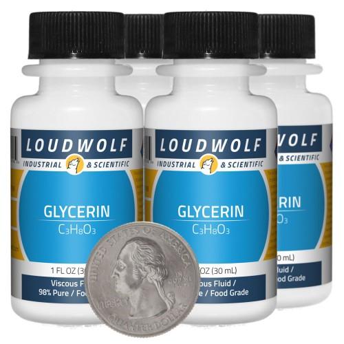 Glycerin - 4 Ounces in 4 Bottles